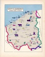 Landkaart West Vlaanderen - Kaart - Landbouw Handel & Nijverheid - 1958 - Mappe