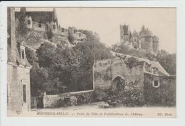 MONTREUIL BELLAY - MAINE ET LOIRE - PORTE DE VILLE ET FORTIFICATIONS DU CHATEAU - Montreuil Bellay