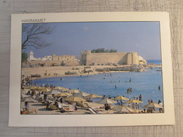 HAMMAMET FORT BEACH SEA SAND SUN TURKEY PC POSTCARD PICTURE TURKIYE TURQUIE - Hotel Labels