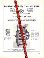 Pub Reclame Org. Knipsel Tijdschrift - Boerenmaalderijen D.D.D. Van Ieper - Daniel Devos & Zoon - Dikkebus 1958 - Publicités