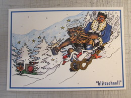 SKY SNOW WINTER BLITZSCHNELL GERMANY BEER PC POSTCARD PICTURE PHOTO FOTO - Etiketten Van Hotels