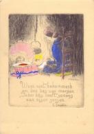 Gravure Ets - Ingekleurd - Moeder En Kind Aan De Haard - Handtekening P. Chardon - Gravures