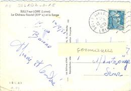 DAGUIN FLAMME DROITE MUETTE SULLY SUR LOIRE LOIRET Du 13-8-1951 - Storia Postale