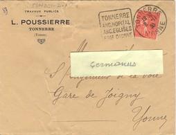 DAGUIN TONNERRE YONNE Du 8-11-30 TONNERRE / ANC. HOPITAL / ANC. EGLISES / FSSE DIONNE - Marcophilie (Lettres)