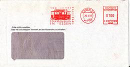 Germany Cover With Meter Cancel Essen 20-4-1993 (Strassenbahn In Essen 100 Jahre) - [7] Federal Republic