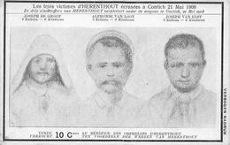 Les Trois Victimes D'Herenthout écrasées à Contich Kontich 1908 - HERENTHOUT - Herenthout