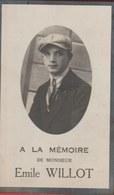 Souvenir Mortuaire Emile Willot, Né à Châtelet En 1909 Et Y Est Décédé En 1920 - Obituary Notices