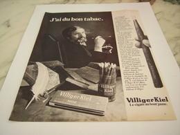 ANCIENNE PUBLICITE LE CIGARE AU BOUT JAUNE VILLIGER-KIEL  1977 - Tabac (objets Liés)