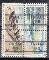 USA Precancel Vorausentwertung Preo, Locals Kansas, Treece 852, Hattaras Block - Vereinigte Staaten