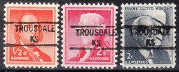 USA Precancel Vorausentwertung Preo, Locals Kansas, Trousdale 841, 3 Diff. - Vereinigte Staaten