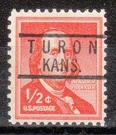 USA Precancel Vorausentwertung Preo, Locals Kansas, Turon 818 - Vereinigte Staaten