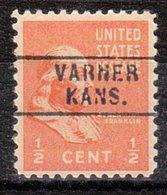 USA Precancel Vorausentwertung Preo, Locals Kansas, Varner 745 - Vereinigte Staaten
