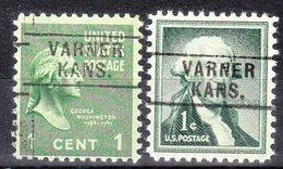 USA Precancel Vorausentwertung Preo, Locals Kansas, Varner 745, 2 Diff. - Vereinigte Staaten