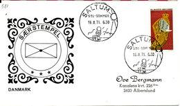 Denmark Cover With Special Postmark Saltum Sol  - Sommer 16-8-1971 - Denmark