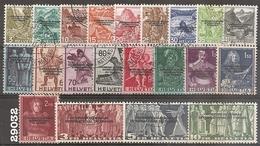 1944 - Courrier Du BIT - YT 227 à 247 Oblitérés - VC: 75 Eur. - Dienstpost