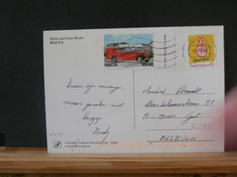 78/816A  CP  MALTA   + TIMBRE BELGE - Bussen