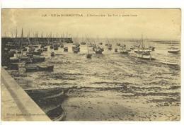 Carte Postale Ancienne Ile De Noirmoutier - L'Herbaudière. Le Port à Marée Basse - Noirmoutier
