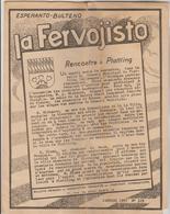 "10 REVUES ""LA FERVOJISTO"" BULLETIN ESPERANTO ASSOCIATION FRANCAISE CHEMINOTS - N° 119,172, 173,176, 181, 183 à 185, 193 - Livres, BD, Revues"