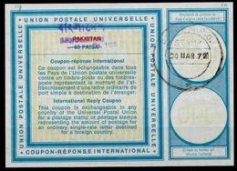 BANGLADESH On PAKISTAN Vi19 Rs1.25 / 65 PAISA InternationalReply Coupon Reponse IAS IRC Antwortschein O DACCA 30.03. - Bangladesch