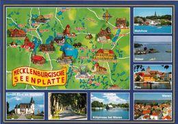 1 Map Of Germany * 1 Ansichtskarte Mit Der Landkarte - Mecklenburgischen Seenplatte * - Landkarten