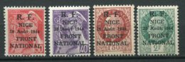 14184  FRANCE   *  4 Valeurs De La Série :  Libération De Nice  28 Août 1944      TB - Libération