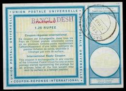 BANGLADESH / PAKISTAN Vi20 1,25 RUPEEInternational Reply Coupon Reponse IRC Antwortschein Overprinted O DACCA 20.3.73 - Bangladesch