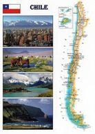 1 Map Of Chile * 1 Ansichtskarte Mit Der Landkarte Von Chile * - Landkarten