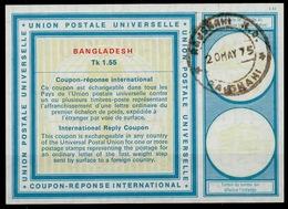 BANGLADESH Vi21Tk 1.55 First International Reply Coupon Reponse IRC IAS Antwortschein O RAJSHAHI 20.5.75 - Bangladesch