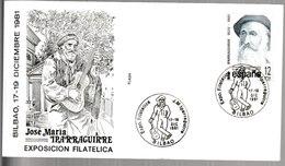 N 304) Spanien 1981 Mi# 2531 SSt Bilbao José Maria Iparraguirre, Baskischer Komponist, Gitarrist Gitarre - Musik