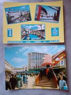 2 Cartoline Fiera Di Milano VIAGGIATE Anni 60 PANORAMICA Vedute Recoaro Animata Internazionale Alberghiera Scala Mobile - Milano