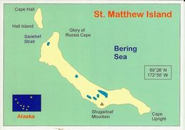 1 Map Of Alaska * 1 Landkarte Von St. Matthew Island - Bering Sea * - Landkarten