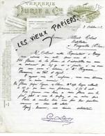 42 - Loire - ST-ETIENNE - Facture DURIF - Verrerie - 1912 - REF 122B - 1900 – 1949
