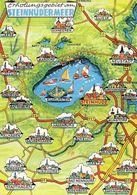 1 Map Of Germany * 1 Ansichtskarte Mit Der Landkarte - Erholungsgebiet Am Steinhuder Meer * - Landkarten