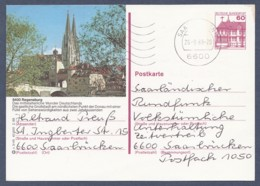 Germany-BRD - Bildpostkarte Von 1988 - P 138 S 3/45 - Gebraucht - Regensburg In Der Oberpfalz (P138s) - [7] República Federal