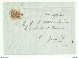 FRANCOBOLLO DA 6 KREUZER BOTZEN  1853    SU FRONTESPIZIO - Gebraucht