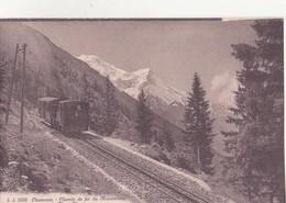 CPA - 8589. CHAMONIX - Chemin De Fer Du Montenvers Et Le MONT BLANC - Chamonix-Mont-Blanc