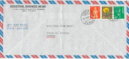 Japan Air Mail Cover Sent Denmark Hirakata Osaka 15-6-1987 Topic Stamps (light Bended Cover) - Airmail