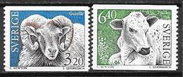 Suède 1994 N°1786/1787 Neufs Paire Mouton Et Vache - Sweden