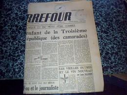 "JOURNAL  ""CARREFOUR""  4 AOUT 1948 CACHET MAIRIE DE  MEYRIGNAC L'EGLISE - Giornali"