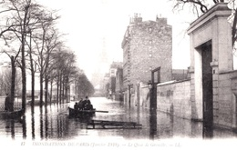 INONDATIONS CRUE  - LE QUAI DE GRENELLE     - Bb-1063 - Paris Flood, 1910