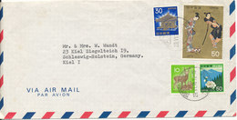 Japan Air Mail Cover Sent To Germany Nishinomiya 29-6-1976 (the Cover Is Bended) - Airmail