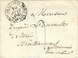 10 Janvier 1849-  - Enveloppe Grand Cachet ( PARIS ) Bau De La C.bre DES PAIRS - Marcophilie (Lettres)