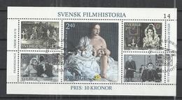 SWEDEN 1981 - SWEDEN FILM HISTORY - CPL. SET - USED OBLITERE GESTEMPELT USADO - Used Stamps