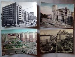 4 Cartoline Viaggiate Milano TRAM Corso Buenos Aires Lima Piazzale Loreto Monumento 5 Giornate Cavour - Milano