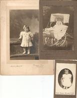 Lot De 6 Photographies +3 Cartes-photos + 3 Cdv De Marc Carcy, Toulouse, Capvern, Tarbes, Landau, Communion, 1908-1918 - Personnes Identifiées