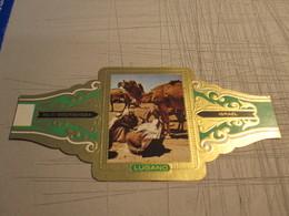 BAQUE CIGAR BAND LUGANO SUPER SIZE 11.50 X 5.50 CNS ISRAEL PALESTINE BEER SHEBA BEDUIN MARKET CAMEL - Cigar Bands