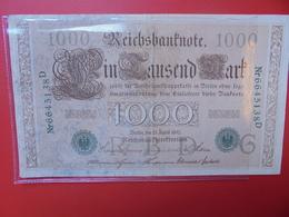 "Reichsbanknote 1000 MARK 1910 ""CACHET VERT"" CIRCULER (B.1) - 1000 Mark"
