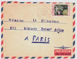 GAGNOA Côte D'ivoire Lettre Dest Dijon Ob 22 5 1955 AOF Yv 67 20 F Banane - Briefe U. Dokumente