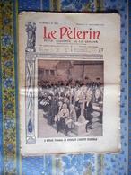 LE PELERIN 01/11/1908 KERLAZ FINISTERE ABSOUTE ALGERIE MINARET BOUGIE DRAPEAUX REGIMENT COLONIAL A LEMOT - Giornali