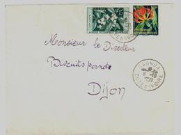 GAGNOA Côte D'ivoire Lettre Dest Dijon Ob 8 10 1959 AOF Yv 62 68 15 F Café 10 F Gloriosa - Briefe U. Dokumente